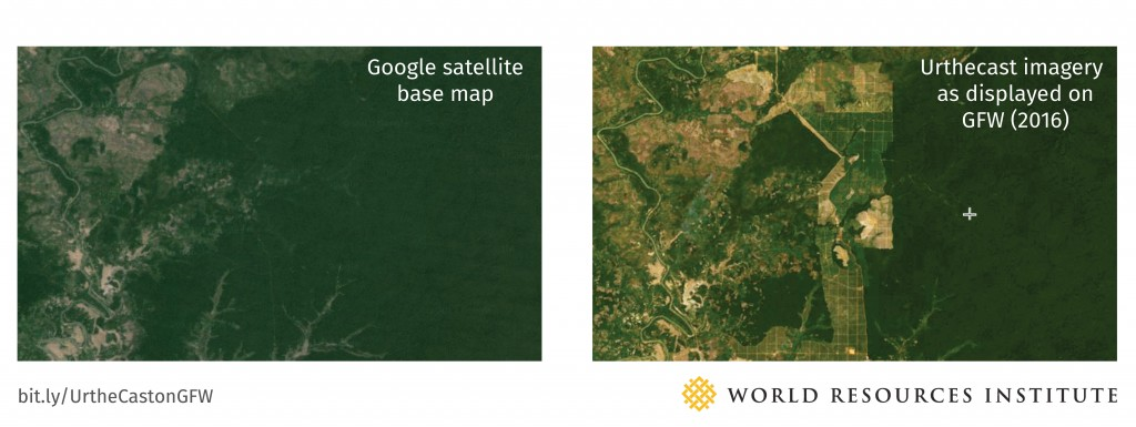 Blog_Basemap vs Urthecast Imagery
